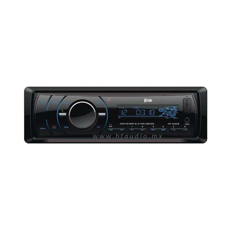 Autoest�reo con reproductor de CD, MP3/USB, AUX y SD Card - HF Audio
